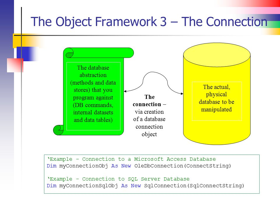 The Object Framework 3 – The Connection