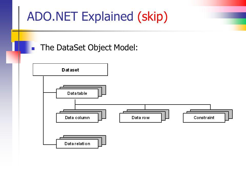 ADO.NET Explained (skip)