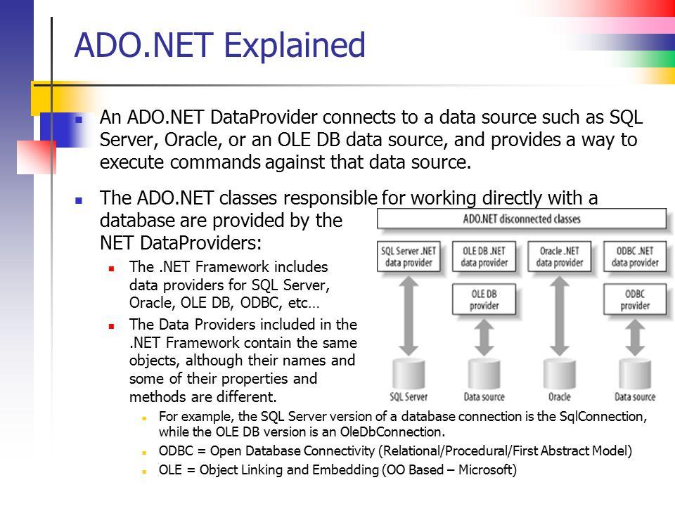 ADO.NET Explained