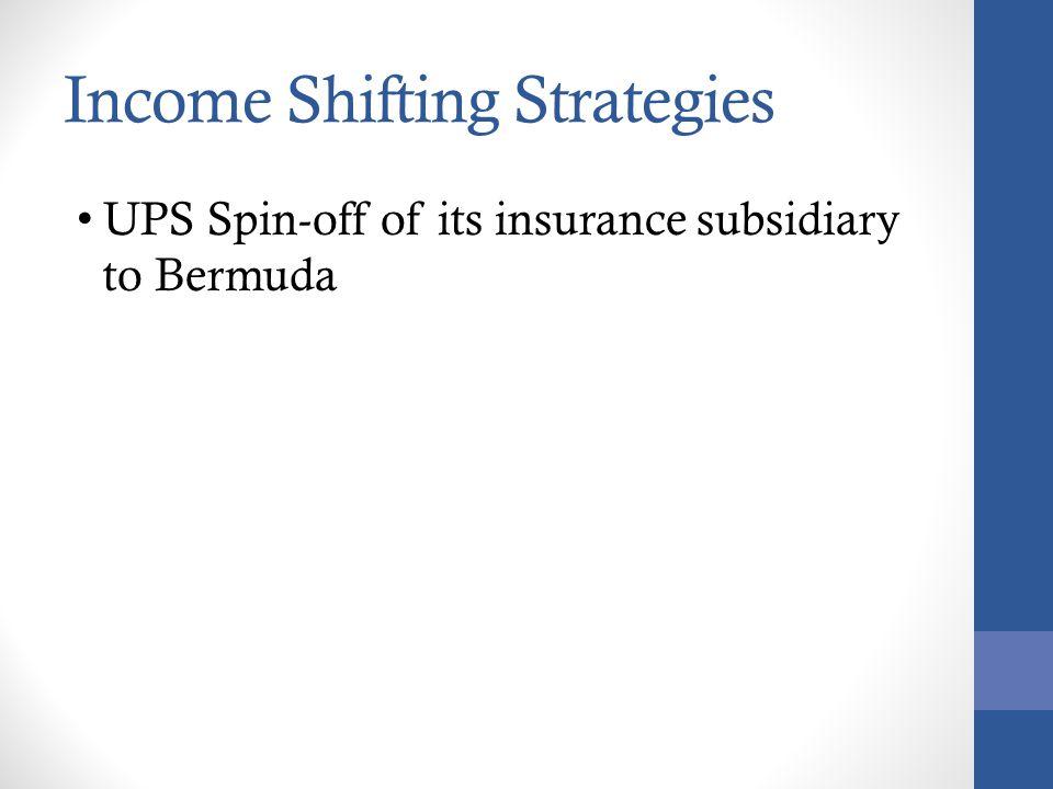 Income Shifting Strategies