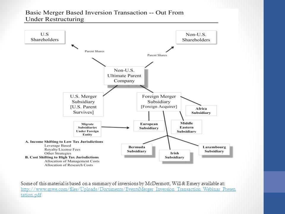 Merger Based Inversion