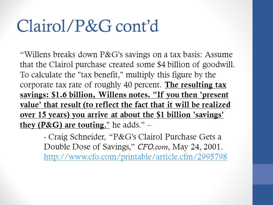 Clairol/P&G cont'd