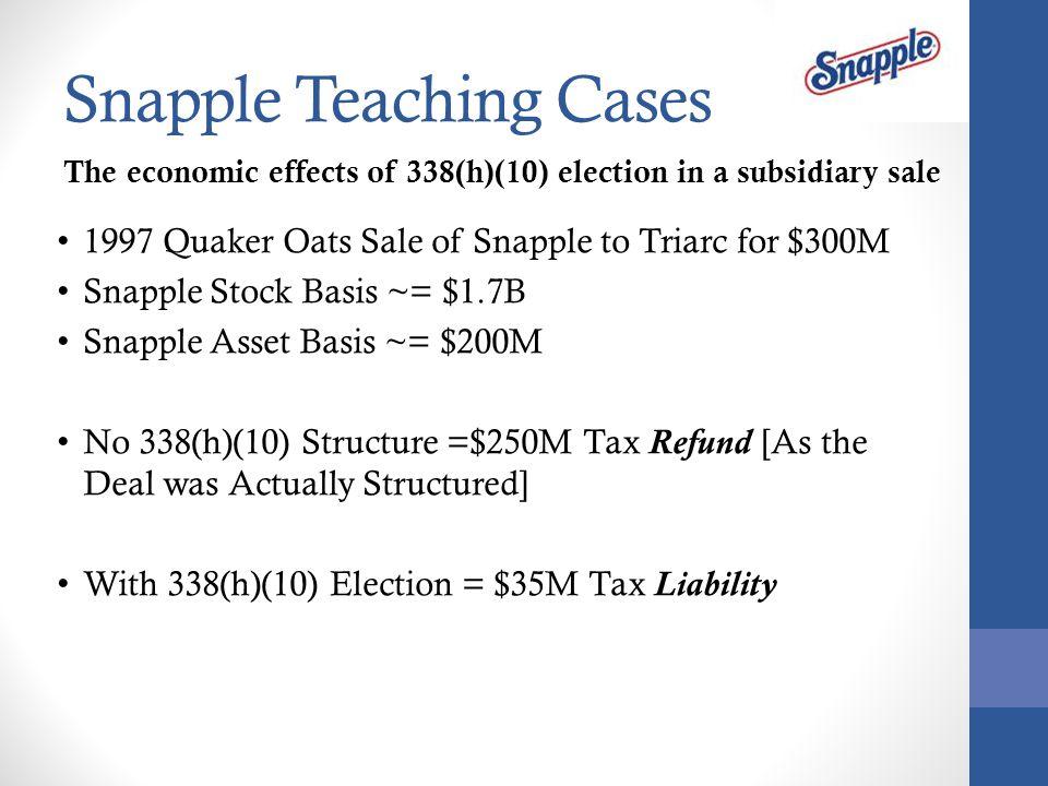 Snapple Teaching Cases