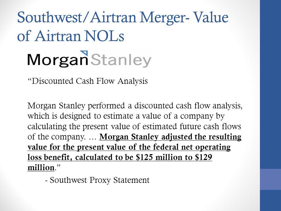 Southwest/Airtran Merger- Value of Airtran NOLs