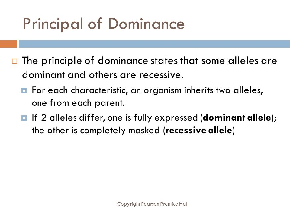 Principal of Dominance