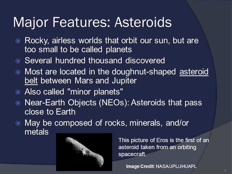 Major Features: Asteroids