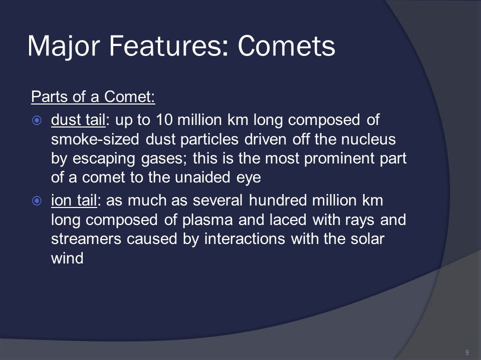 Major Features: Comets