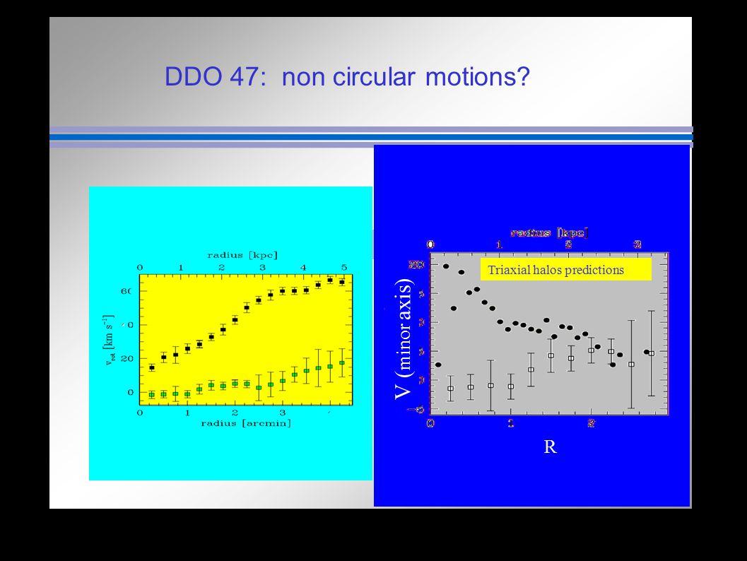 DDO 47: non circular motions