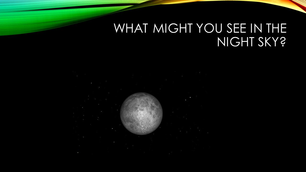 What might you see in the night sky