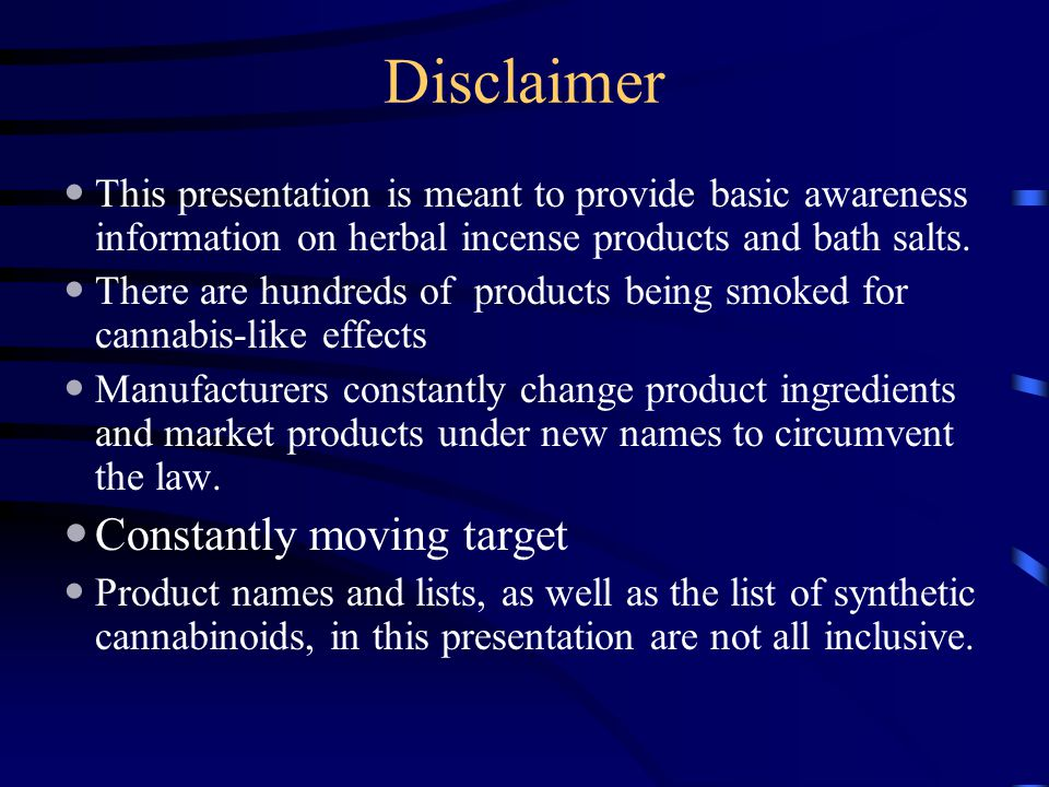Disclaimer Constantly moving target