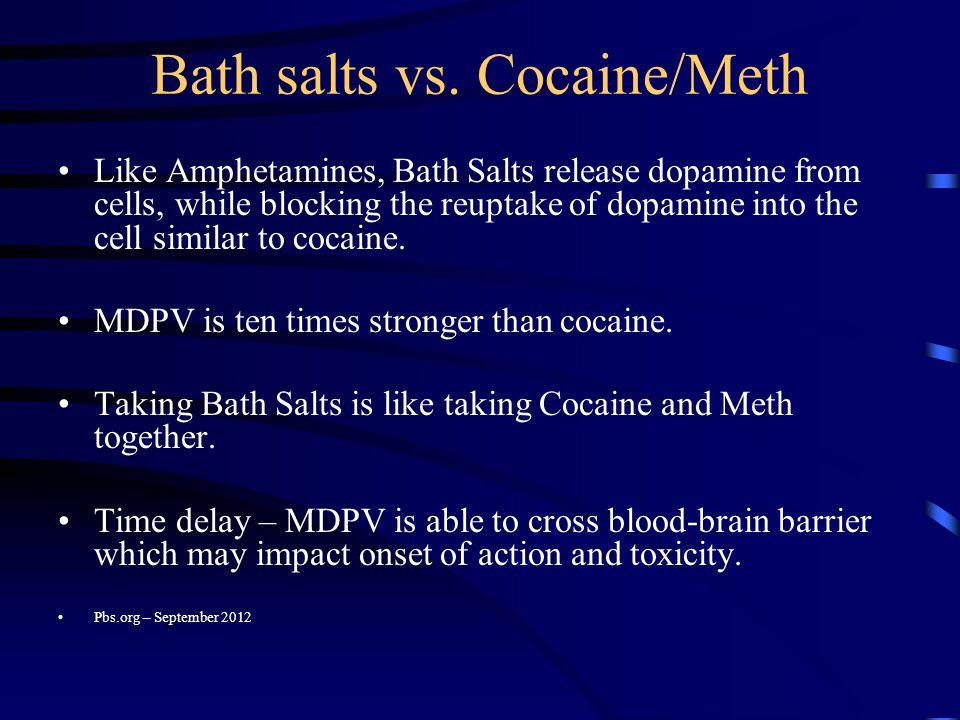 Bath salts vs. Cocaine/Meth