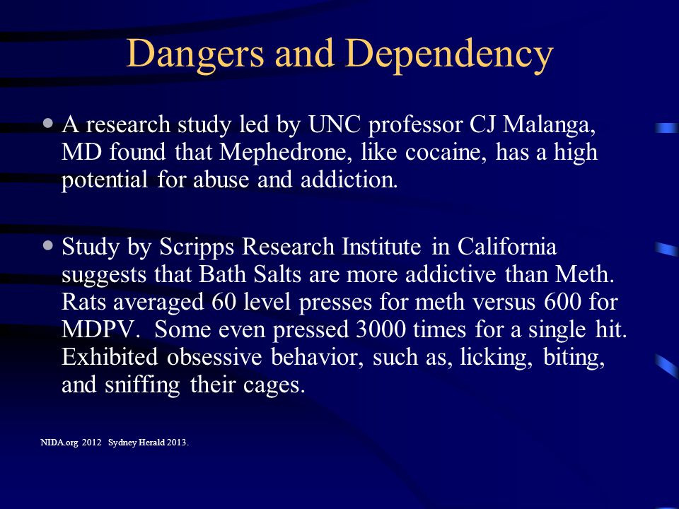 Dangers and Dependency