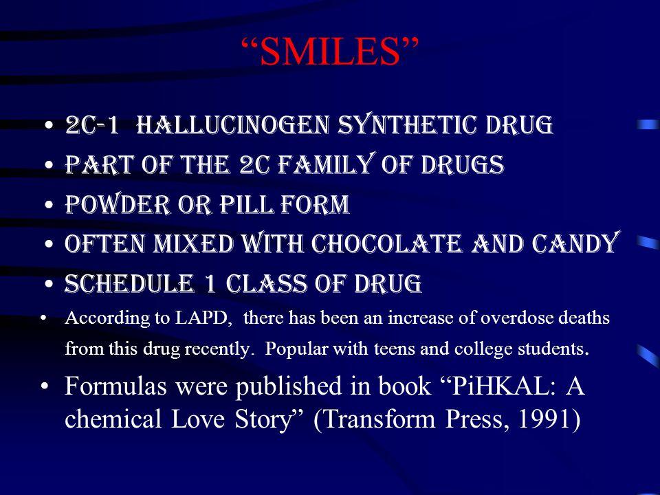 SMILES 2C-1 Hallucinogen synthetic drug