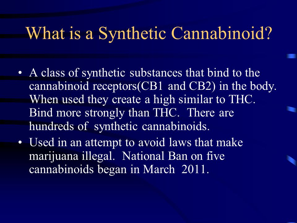 What is a Synthetic Cannabinoid