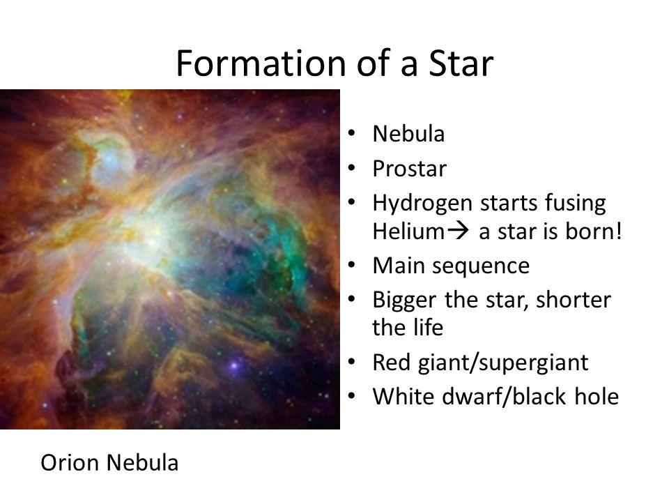 Formation of a Star Nebula Prostar