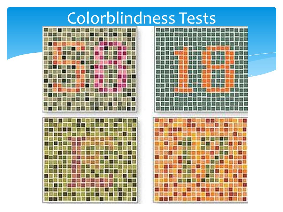 Colorblindness Tests