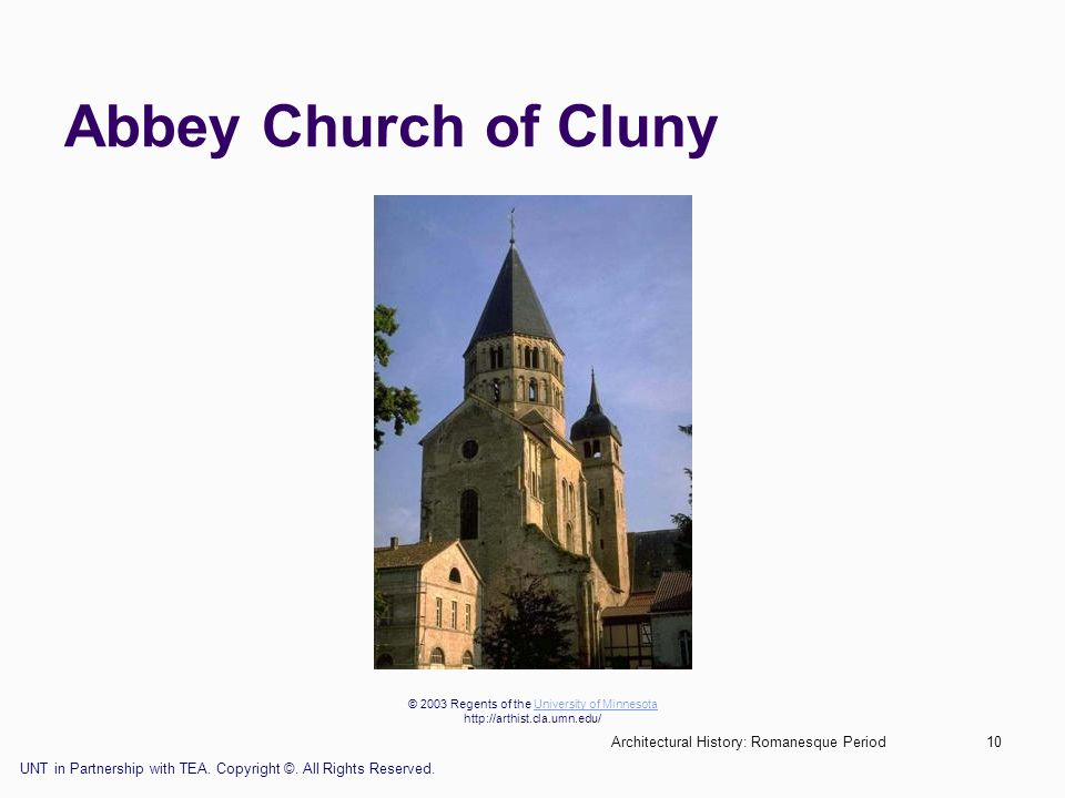 Abbey Church of Cluny Architectural History: Romanesque Period