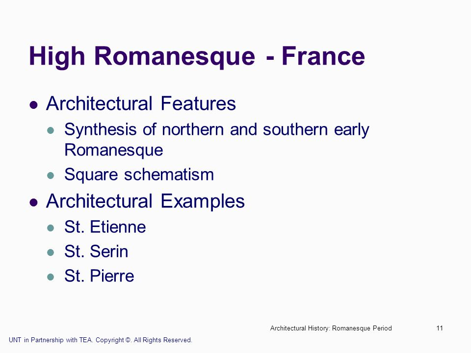 High Romanesque - France