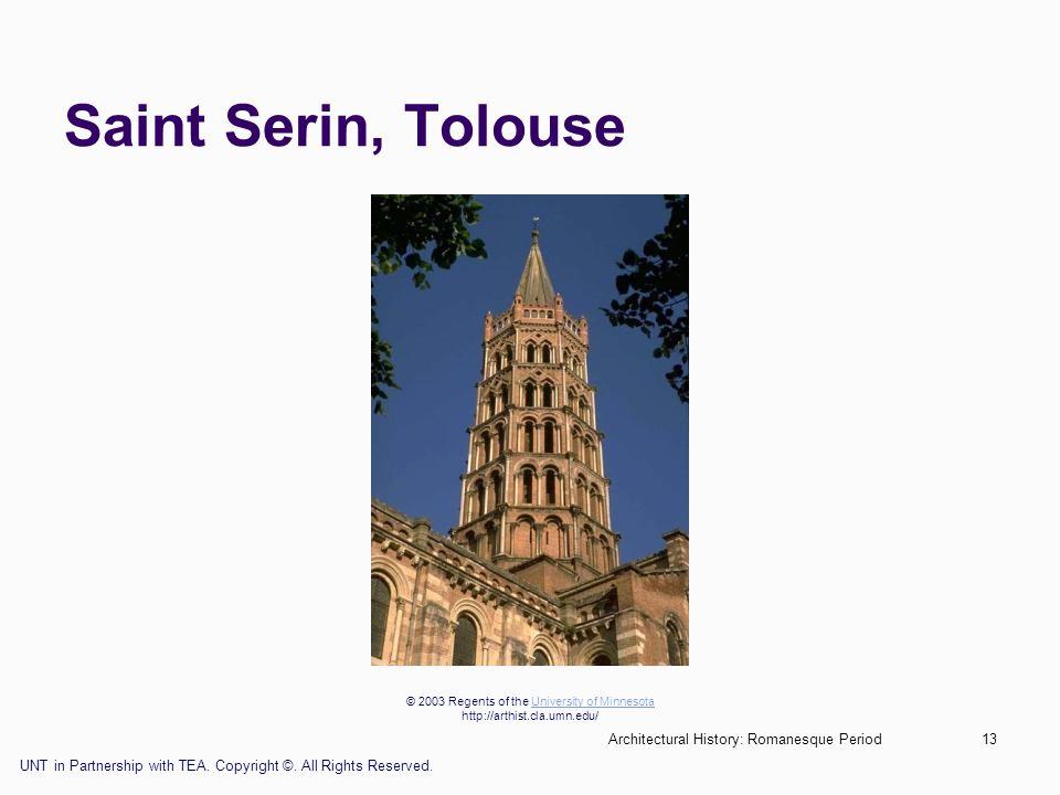 Saint Serin, Tolouse Architectural History: Romanesque Period
