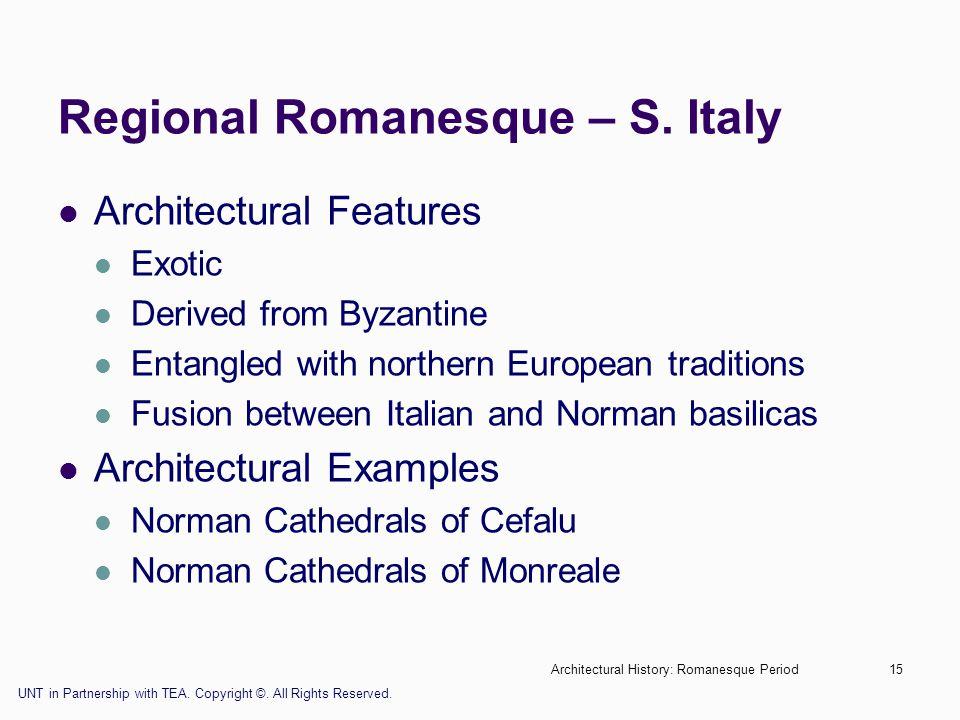 Regional Romanesque – S. Italy
