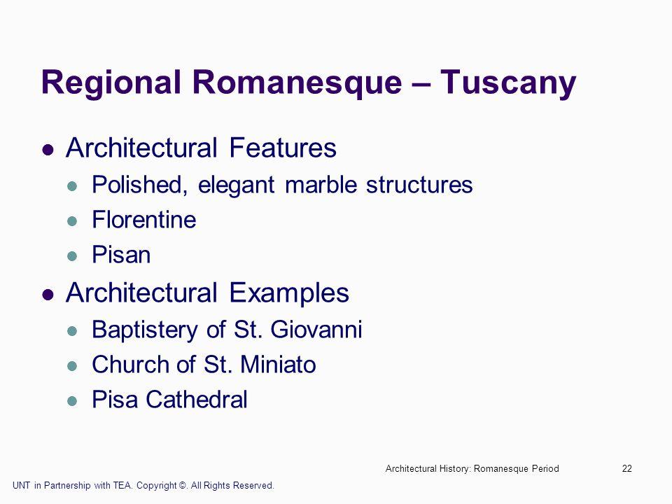 Regional Romanesque – Tuscany