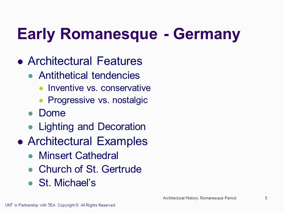 Early Romanesque - Germany