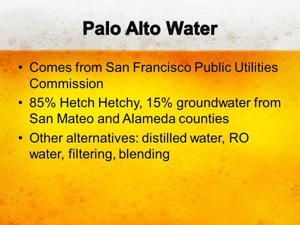 Palo Alto Water Comes from San Francisco Public Utilities Commission