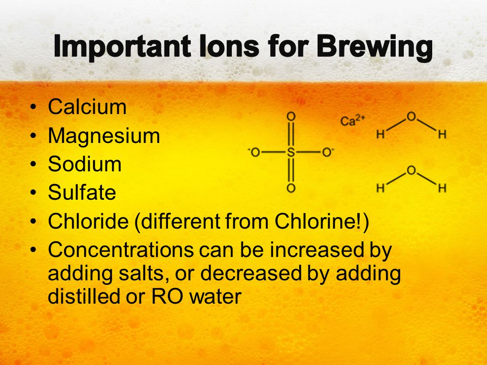 Important Ions for Brewing