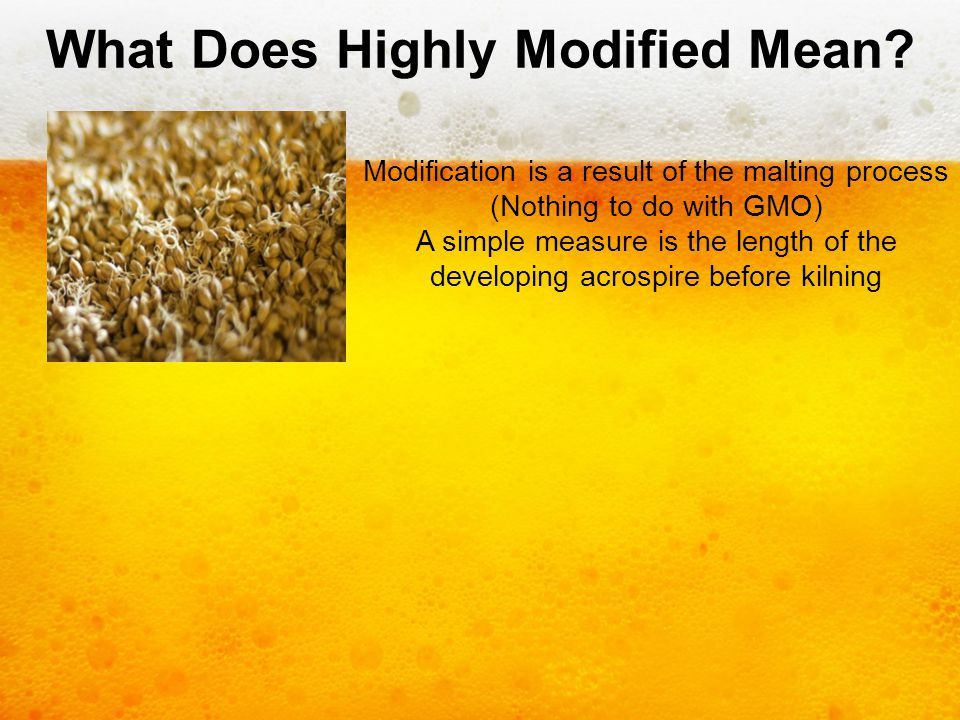 What Does Highly Modified Mean