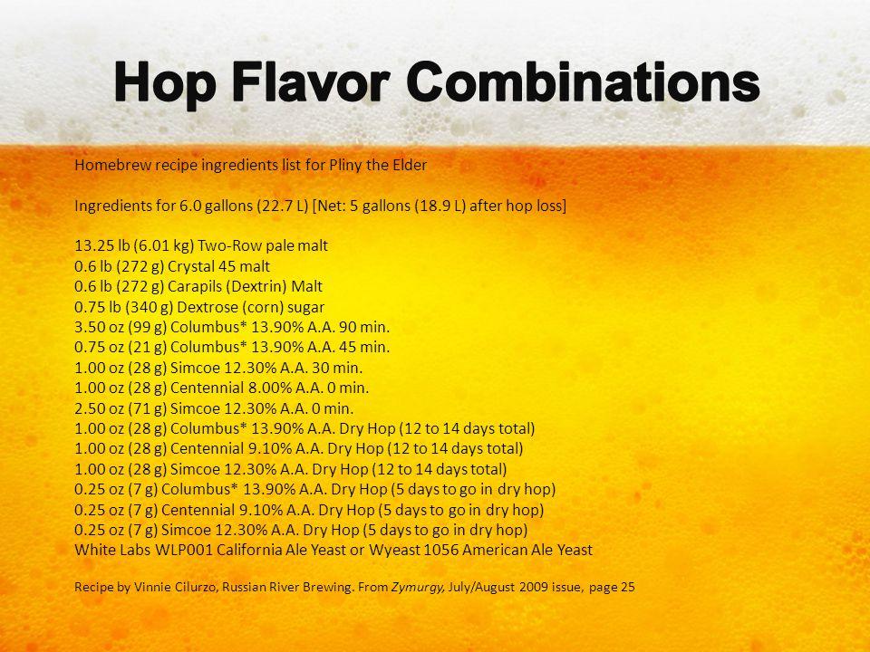 Hop Flavor Combinations