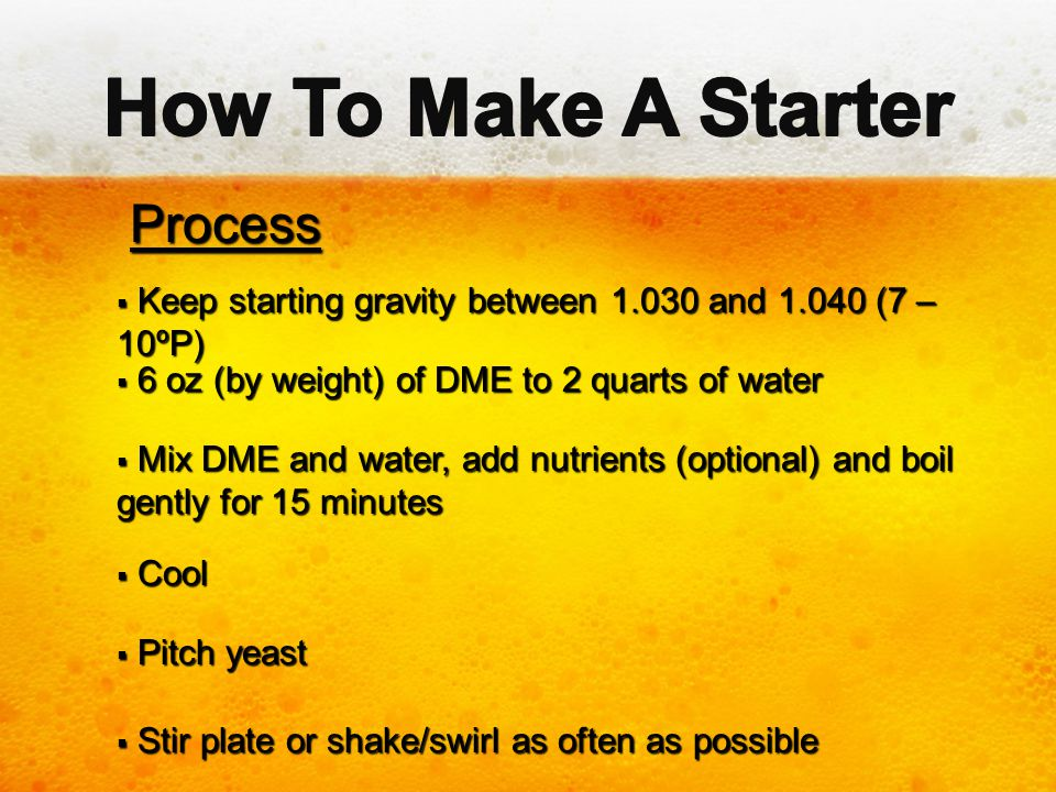How To Make A Starter Process
