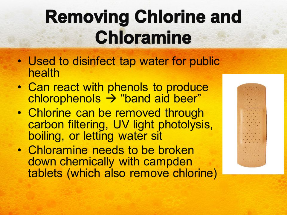 Removing Chlorine and Chloramine