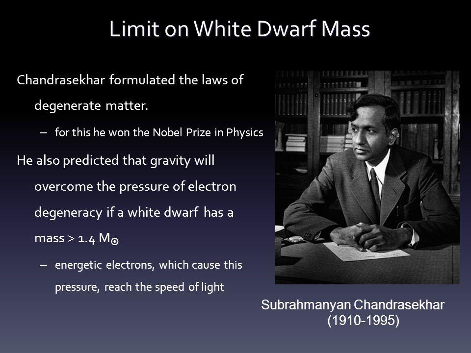Limit on White Dwarf Mass