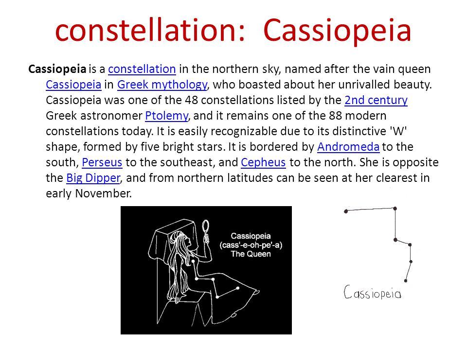 constellation: Cassiopeia