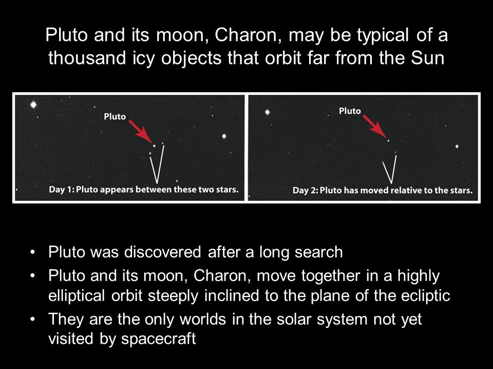 Pluto and its moon, Charon, may be typical of a thousand icy objects that orbit far from the Sun