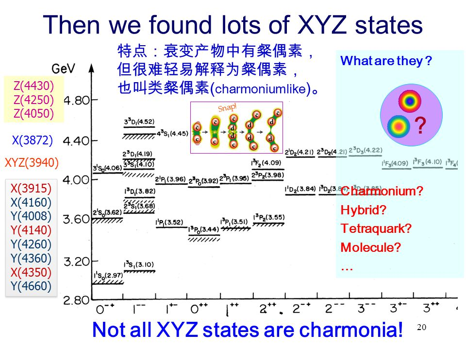 Then we found lots of XYZ states
