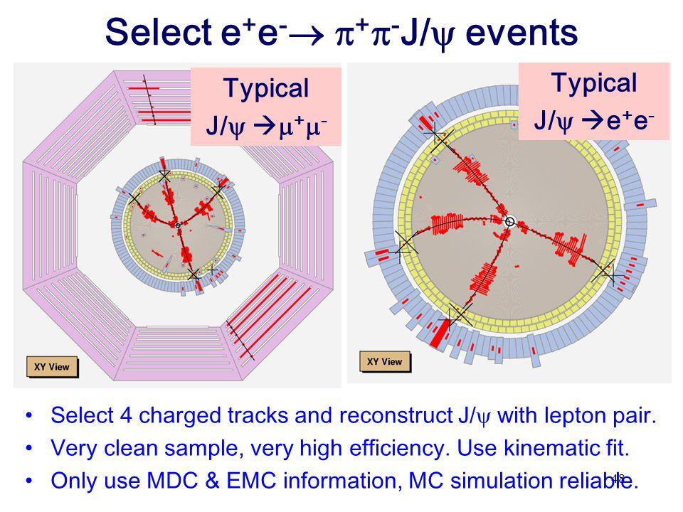 Select e+e- +-J/ events