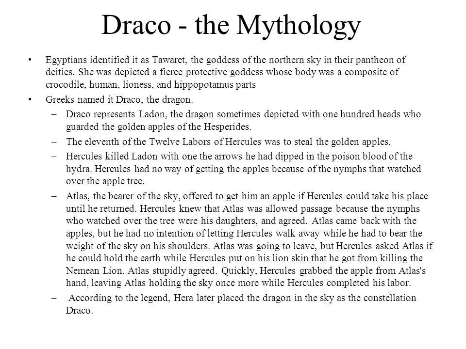 Draco - the Mythology