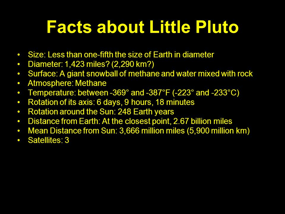 Facts about Little Pluto