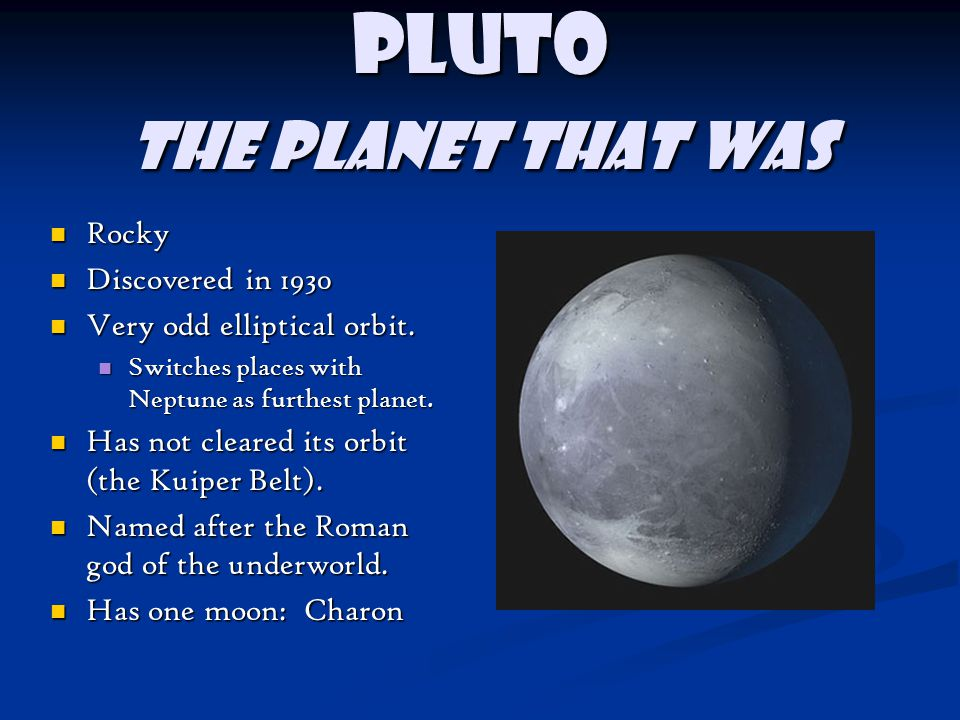 Pluto The planet that was