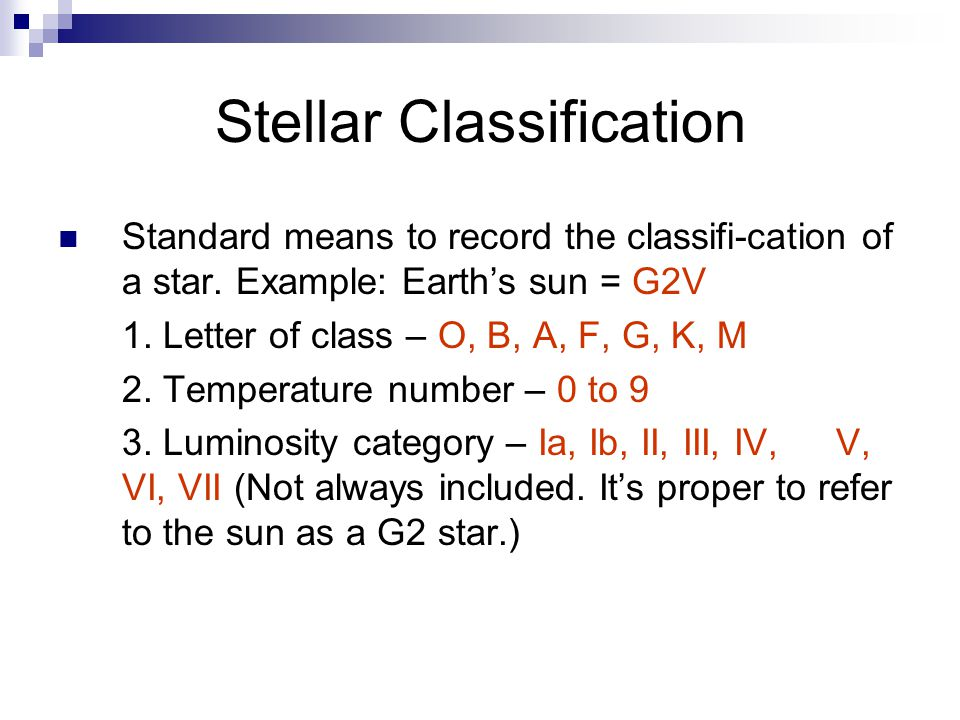 Stellar Classification