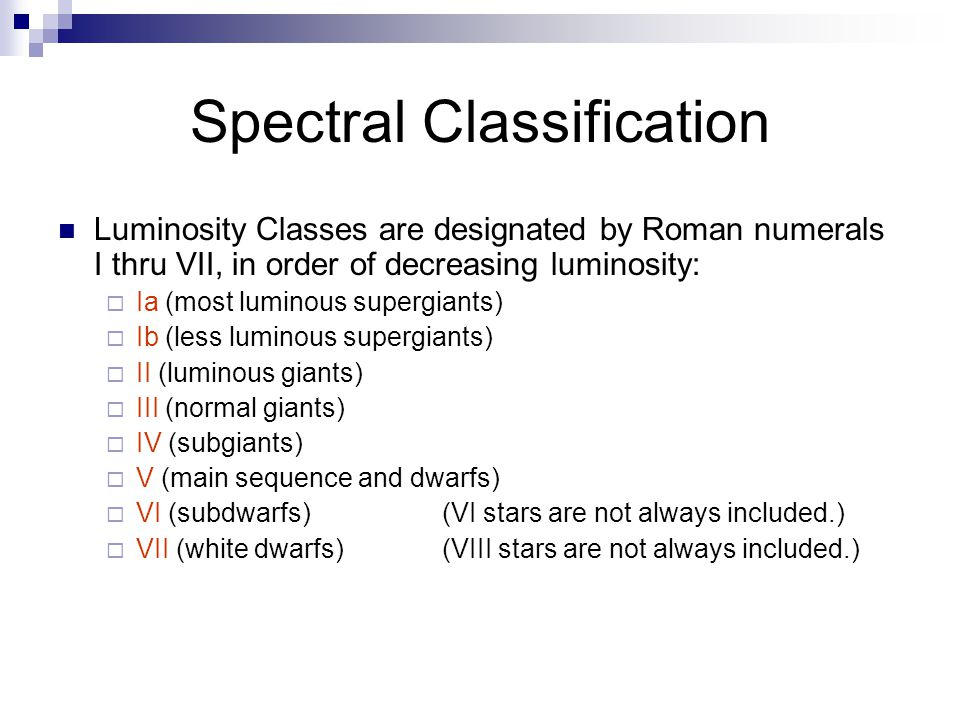 Spectral Classification