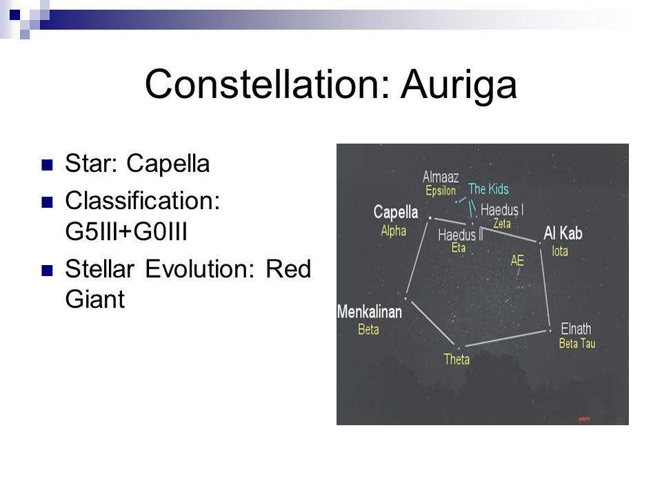 Constellation: Auriga