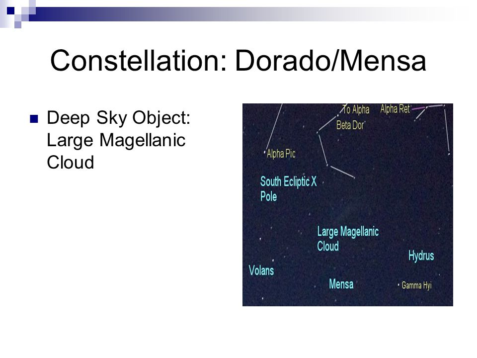 Constellation: Dorado/Mensa