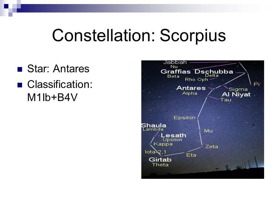 Constellation: Scorpius