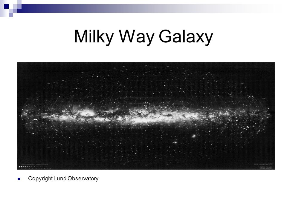 Milky Way Galaxy Copyright Lund Observatory