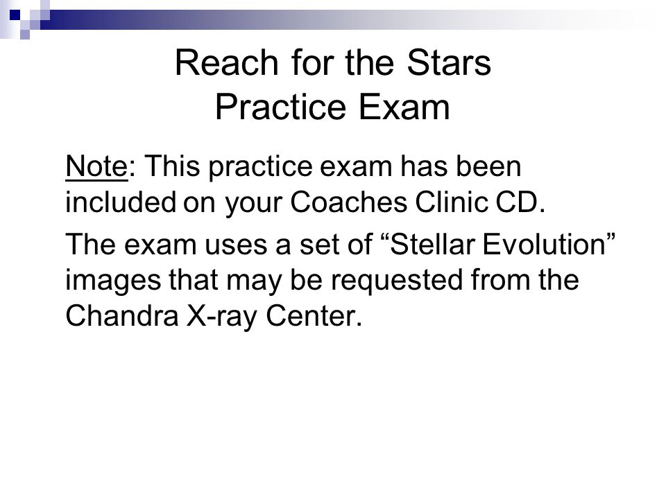 Reach for the Stars Practice Exam