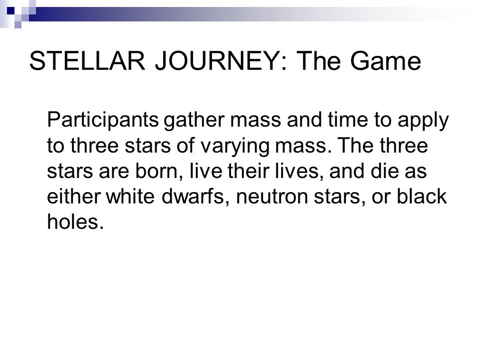 STELLAR JOURNEY: The Game