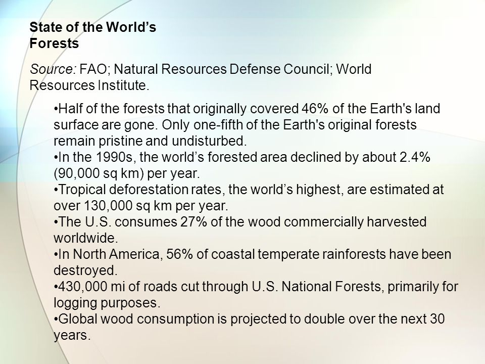 State of the World's Forests