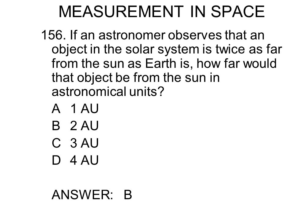 MEASUREMENT IN SPACE